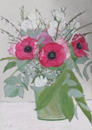 Blumenstrauß, 21x30 cm, Pastellkreide