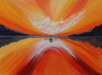 Sonnenuntergang, Acryl auf Leinwand, 60x80cm