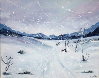 Winterlandschaft, 50x40 cm, Acryl auf Leinwand