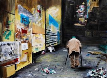 Einsamkeit,  Acryl auf Leinwand, 80x60cm