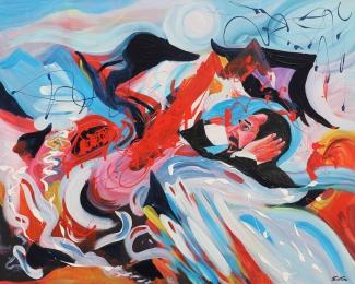 Der Schrei, Acryl auf Leinwand, 80x0100cm