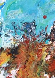 Unterwasserwelt III, Acryl auf Leinwand, 50x70cm